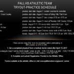 Fall High School Athletic Information