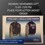 Additional Date for Varsity Jacket Fitting and Order Event