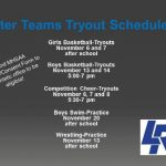 HS Winter Teams-Tryout/Start Dates