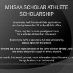 MHSAA Scholar Athlete Scholarship