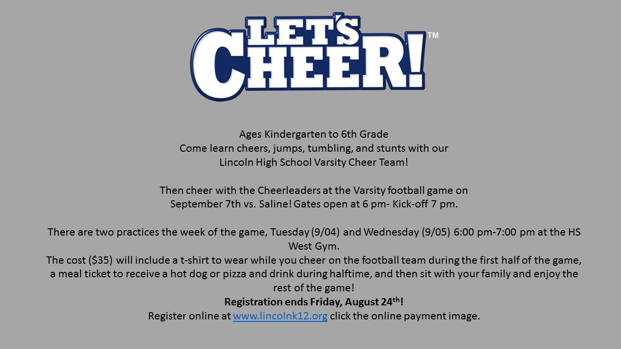 Youth Cheer Clinic-Register Today!