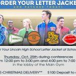 Varsity Jacket Event on October 25th