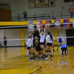 Volleyball Fights for Win