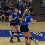 Varsity Volleyball team defeats Elkhart Christian