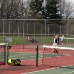 Girls Tennis Team Battles Hard Against Elkhart Central