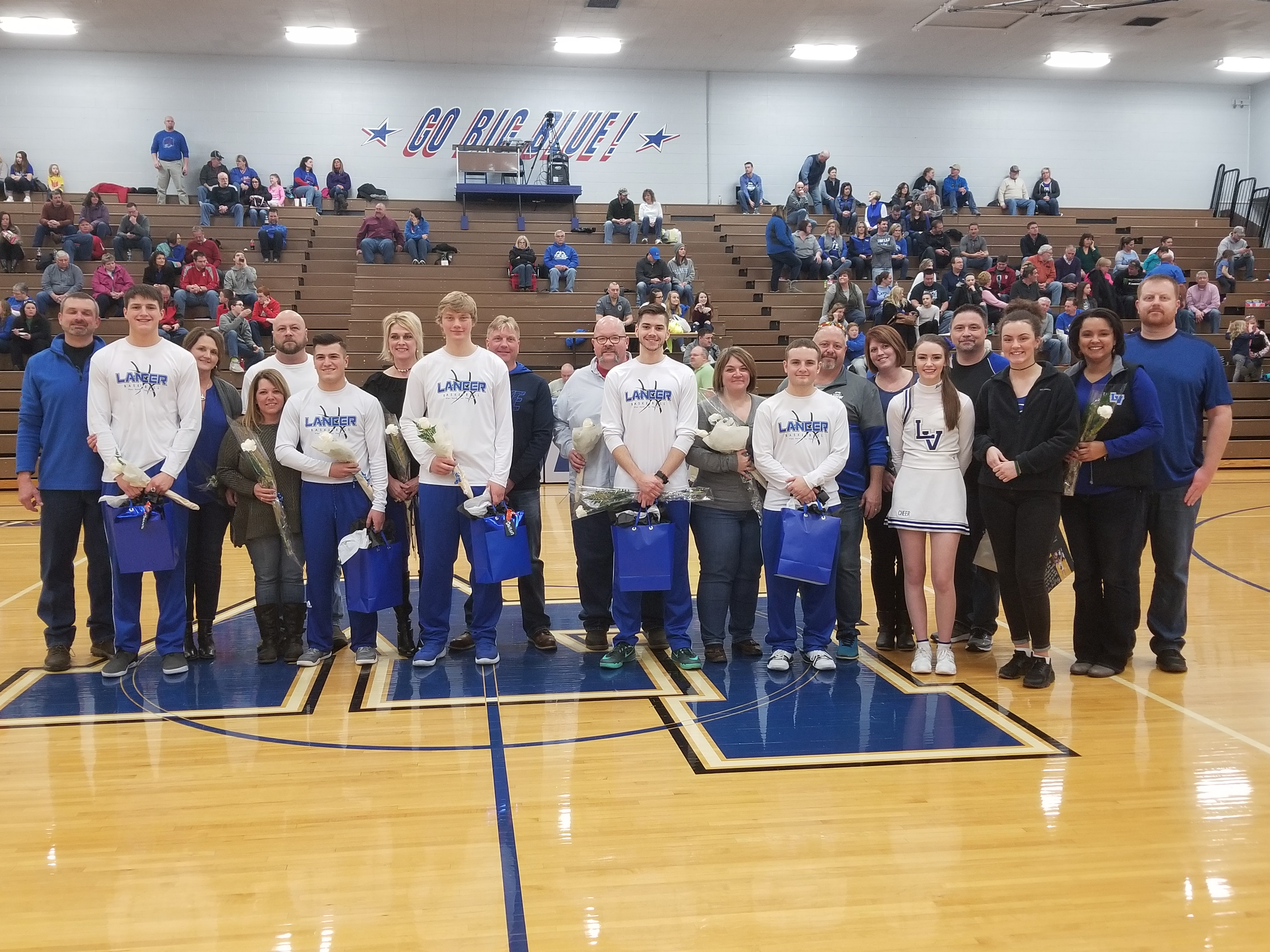 Winter Class of 2018 Basketball, Band, Cheer Recognized