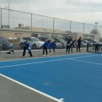 Girl's Tennis Enjoys First Practice On New Courts