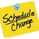 G GOLF Schedule Change