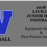 Jr. High Football Equipment, First Practice Information