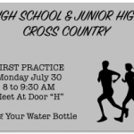 Co-Ed Cross Country Set For First Practice