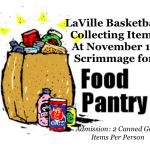 LaVille Basketball Collecting Items For Food Pantry At Nov. 17 Scrimmage
