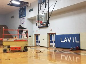 LaVille Gym Renovation Progress
