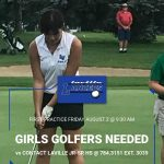 Girls Golfers Needed; First Practice August 2