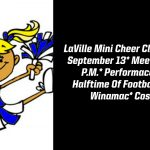 LaVille Cheer To Host Clinic