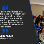 "LaVille Lady Hoops Spread ""Christmas Cheer"" To Miller's Merry Manor Residents"