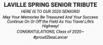 Tribute To Our Senior Spring Athletes – Thank You Class Of 2020!