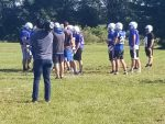 Football Team Welcomes Miles Garrett, WSBT To Practice Session