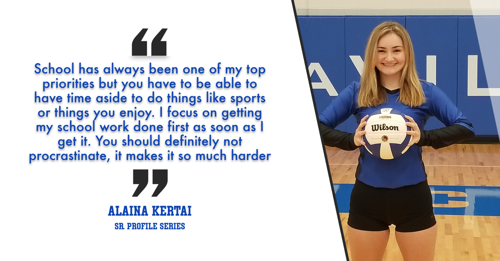 "ALAINA KERTAI: ""Always Put School First And Enjoy Every Single Minute You Get To Play Because You Will Miss It"""