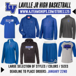 LaVille JH Girls Basketball Team Apparel Shop Open For Business
