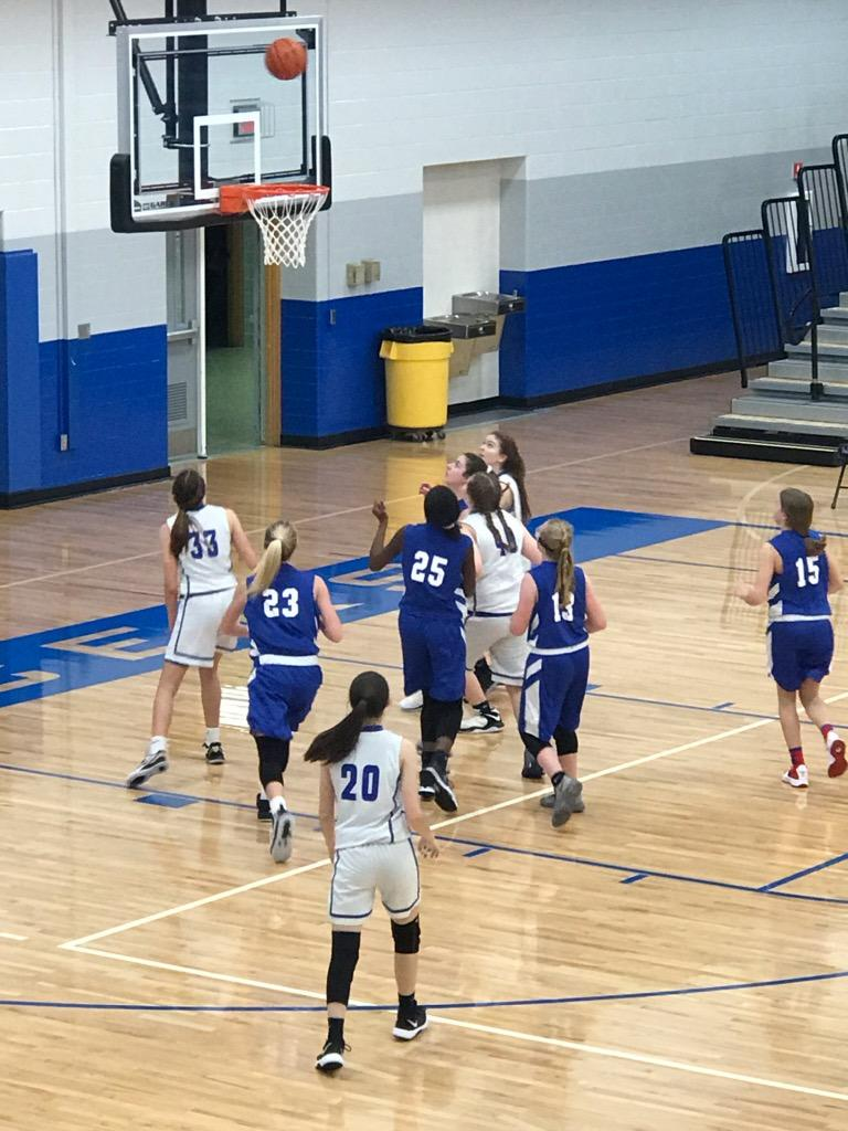Jr. High Girls Basketball v. Caston