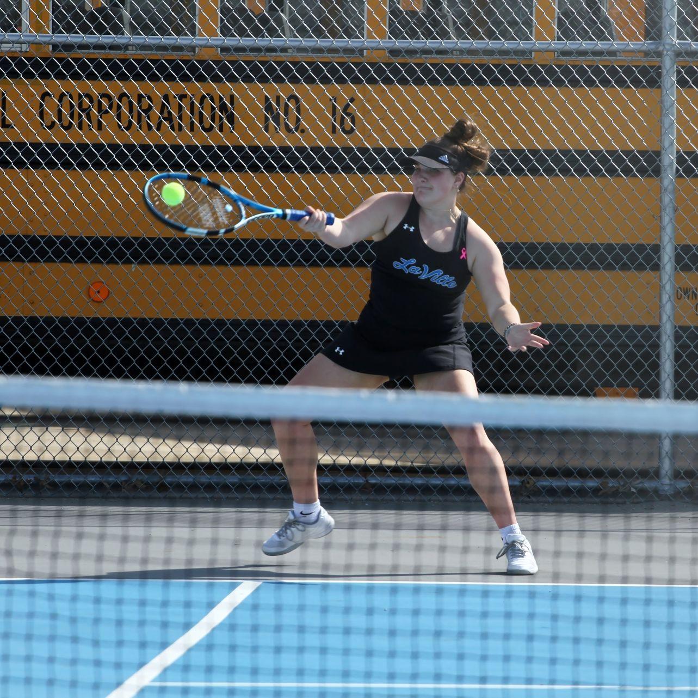Girls Tennis Action