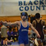Brandon Wrestling District Champions, Douglas picks up career win 150