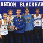 Brandon High School Boys Varsity Cross Country finishes 2nd place