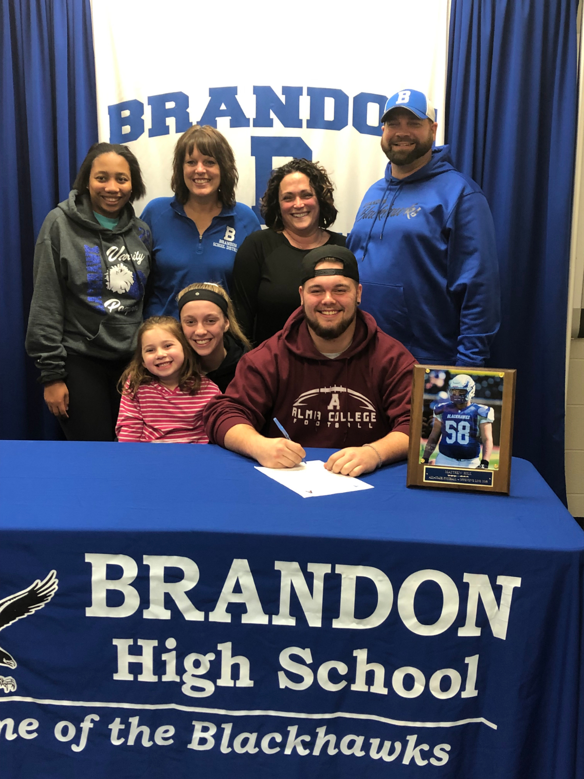 Matt Hill Signs to Play Football at Alma College