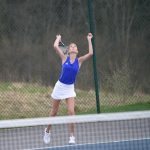 Girls Varsity Tennis Ties Owosso 4-4  2019-05-01 Photo Gallery