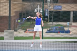 Girls Varsity Tennis Ties Owosso 4-4  2019-05-01 Photo Gallery