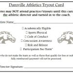 Dansville Athletics Tryout Information!