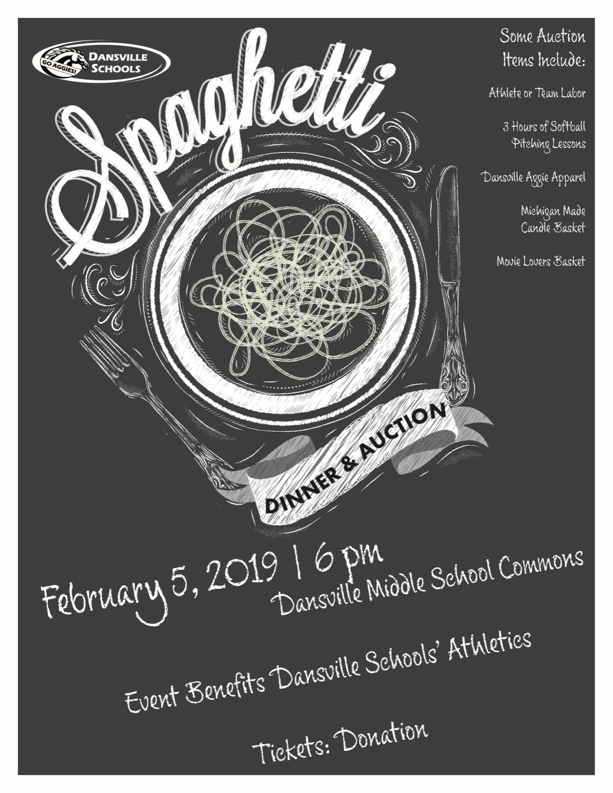Spaghetti Dinner and Auction, Feb. 5