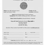 Middle School Volleyball Camp Announced