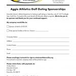 Sponsorships Available for Aggie Golf Outing