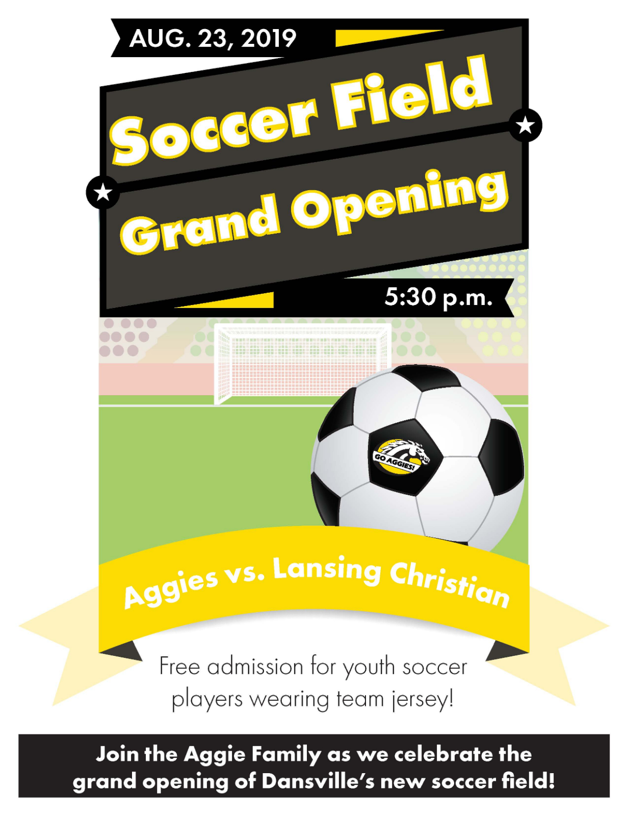 Soccer Field Grand Opening Scheduled for August 23