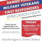 Armed Forces, Military Veterans & First Responders Appreciation Night