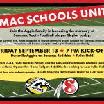 Join the Aggie Family in honoring the memory of Saranac Youth Football Player Skylar Lasby at Football Home Opener