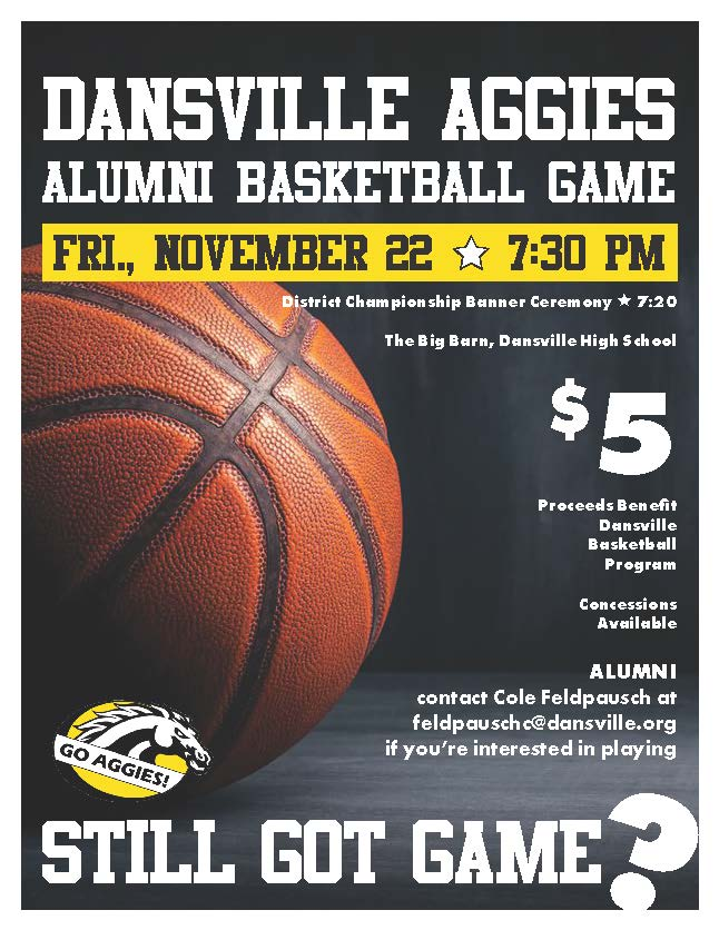 Aggie Alumni Basketball Game Schedule for Nov. 22