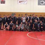 Dansville Varsity Wrestling win MHSAA Team District Championship over Laingsburg