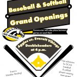 Baseball & Softball Grand Openings Scheduled for March 26