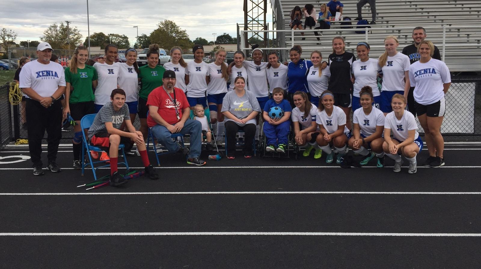 Girls Soccer Welcomes Special Guest For Greeneview Game