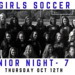 Girls Soccer Senior Night Vs. West Carrollton
