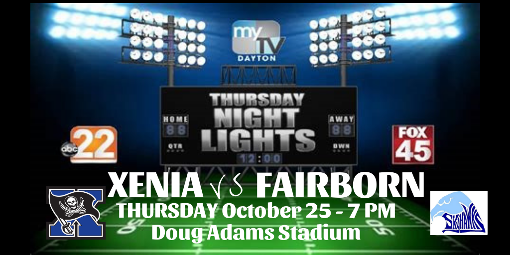 Xenia Football To Host Fairborn On Thursday Night Lights