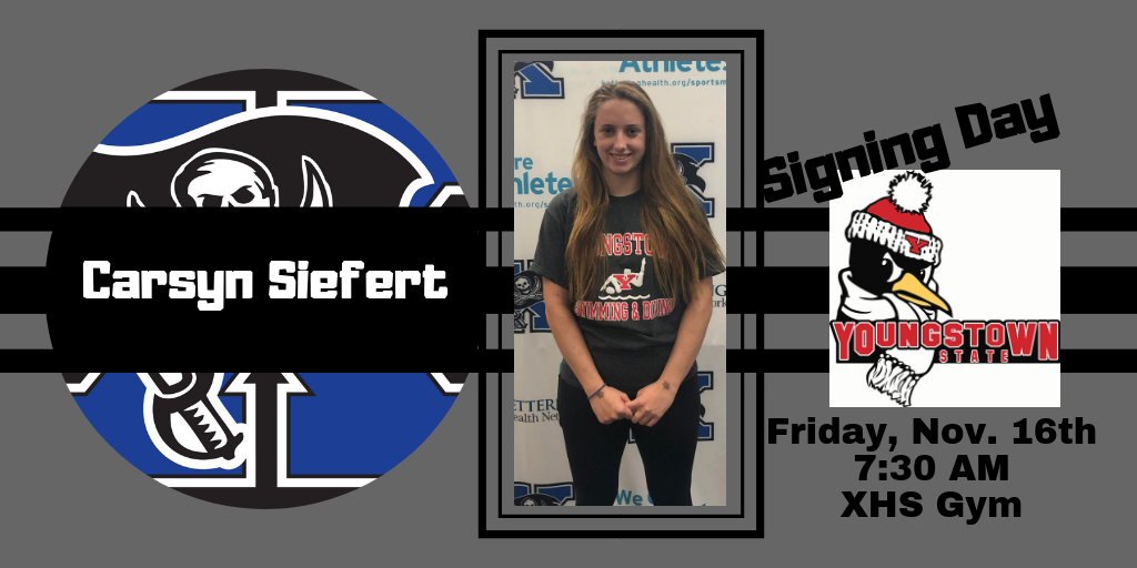 Carsyn Siefert Signing With Youngstown St. Friday