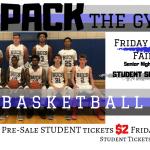 PreSale Student Tickets Just $2 For Boys Basketball Senior Night Vs. Fairborn