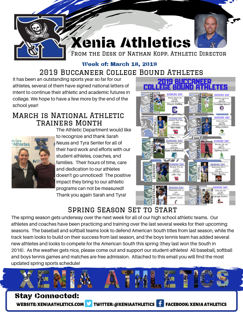 News From The Athletic Directors Desk