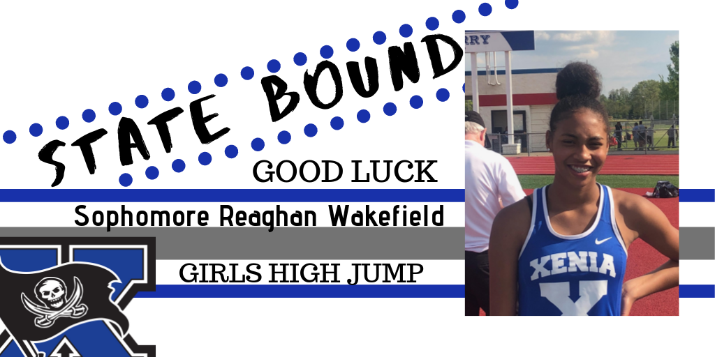 Good Luck To Reaghan Wakefield At The State Track And Field Championships