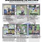 Buccaneers In Action September 23-28: Click For Complete Schedule
