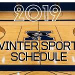 Winter Sports Schedule Released