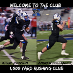 Johnson And Pollander Go over 1000 Yards Rushing For The Season